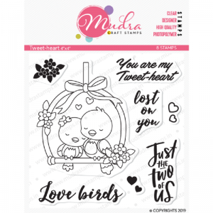 Mudra Clear Stamp - Tweet Heart