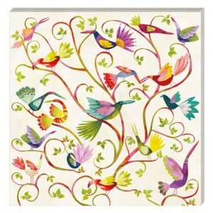Mixed Colour Birds Decoupage Napkin