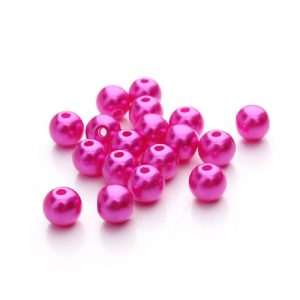 Hot Pink Faux Pearl Beads