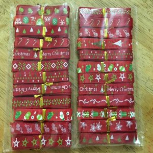 Mixed Christmas Theme Grosgrain and Satin Ribbons