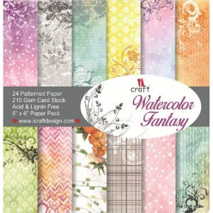 Watercolor Fantasy - iCraft 6 x 6 Paper Pack