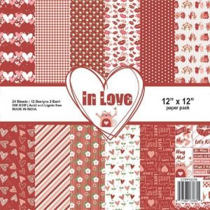 In Love - Craftreat 12 x 12 Paper Pack