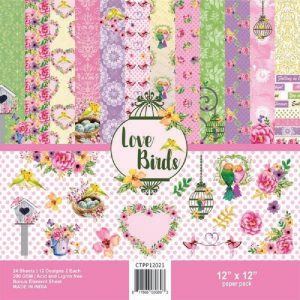 Love Birds - Craftreat 12 x 12 Paper Pack