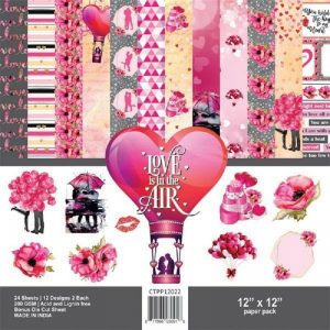 Love is in the Air   - Craftreat 12 x 12 Paper Pack