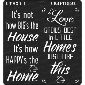 CrafTreat Stencil - Happy Home