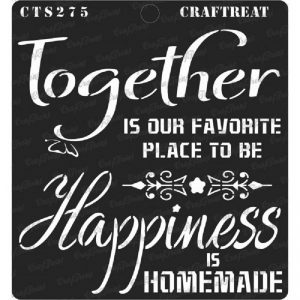 CrafTreat Stencil - Happy Together