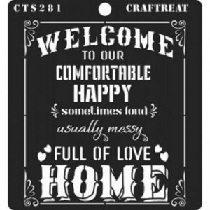 CrafTreat Stencil - Welcome Home