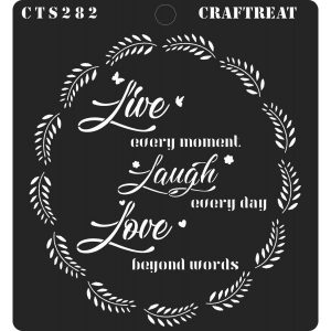 CrafTreat Stencil - Live Laugh Love