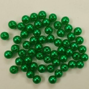 Green Faux Pearl Beads