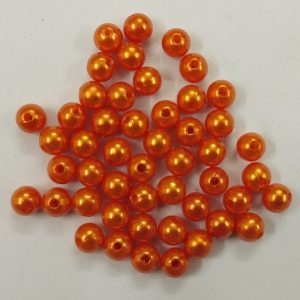 Orange Faux Pearl Beads