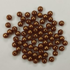 Brown Yellow Faux Pearl Beads