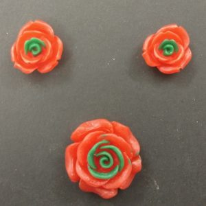 Double Shade Rose Resin Beads Set