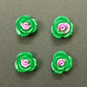 Double Shade Rose Resin Beads