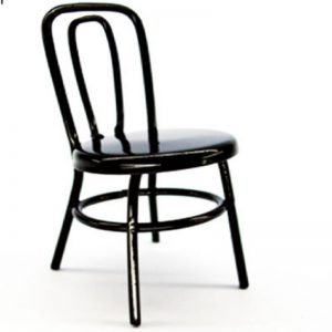 Miniature Black Metal Chair