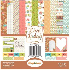 Live Today - Craftreat 6 x 6 Paper Pack
