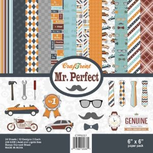 Mr. Perfect - Craftreat 6 x 6 Paper Pack