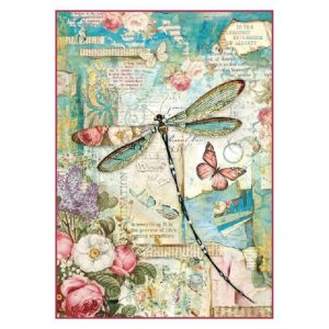 Stamperia Rice Paper - Packed Wonderland Dragonfly