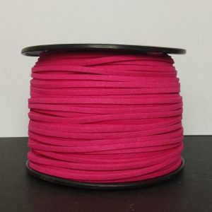 Hot Pink Flat Faux Suede Leather Cord