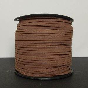 Wood Light Brown Flat Faux Suede Leather Cord