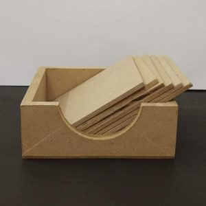 MDF Square Coasters With A Box