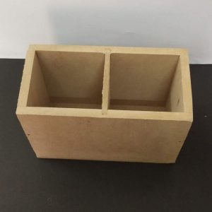 MDF Two Partition Organizer