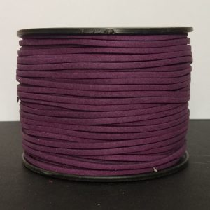 Grape Flat Faux Suede Leather Cord