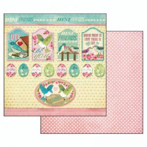 Stamperia Double Face Paper - Fall In Love Best Friends