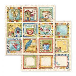 Stamperia Double Face Paper - Patchwork Cards Cups