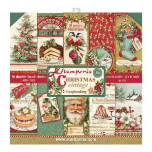 Stamperia Double Face Christmas Vintage Theme Paper Pack