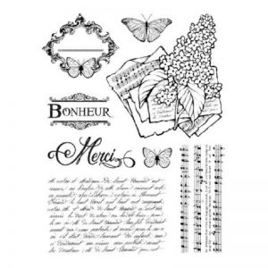 Stamperia HD Natural Rubber Stamp - Lilac
