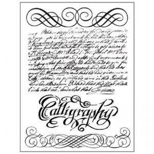 Stamperia HD Natural Rubber Stamp - Calligraphy