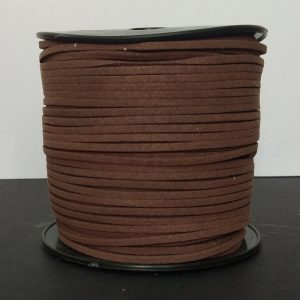 Wood Brown Flat Faux Suede Leather Cord