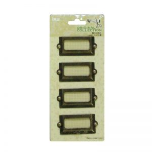 Antique Bronze Small Rectangle Label Frames