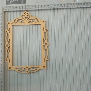 Rectangle Pattern Frame MDF Cutout