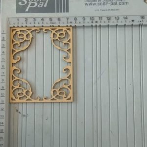Rectangle Frame MDF Cutout