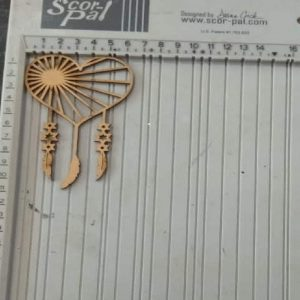 Heart With Dream Catcher Pattern MDF Cutout