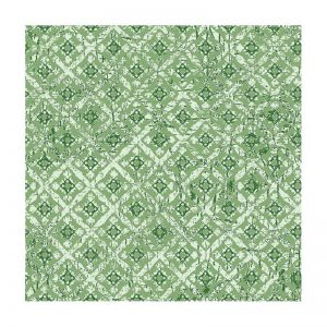 Triangle Green Decoupage Napkin