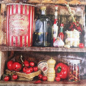 Dried Tomatoes Decoupage Napkin
