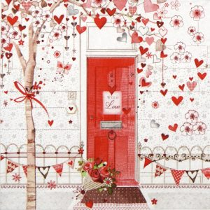 With Love Decoupage Napkin