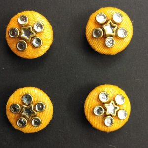 Fabric Covered Stone Work Buttons