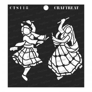 CrafTreat Stencil - Dhandiya Couple