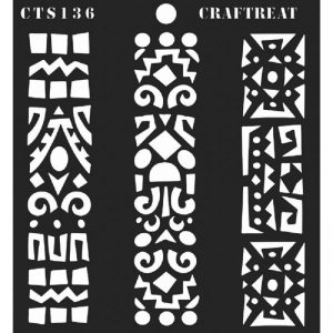 CrafTreat Stencil - Folk Art Borders