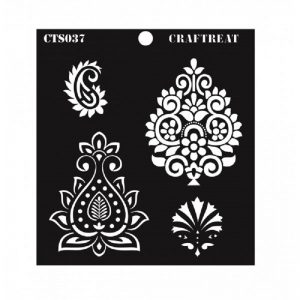 CrafTreat Stencil - Indian Motifs