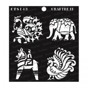 CrafTreat Stencil - Indian Motifs 2