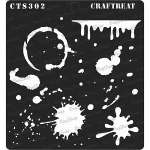 CrafTreat Stencil - Stains and Splatters