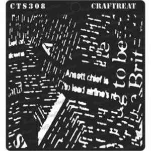 CrafTreat Stencil - NewsPrint