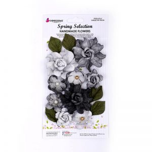 Handmade Rose Flower - Mixed Melody Black