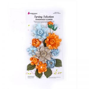 Handmade Rose Flower - Mixed Melody Blue And Orange