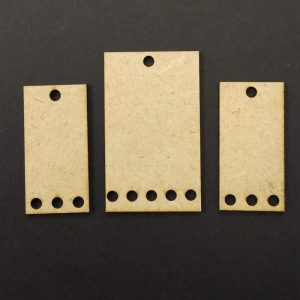 MDF Rectangle With Holes