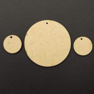 MDF Circle With Single Hole
